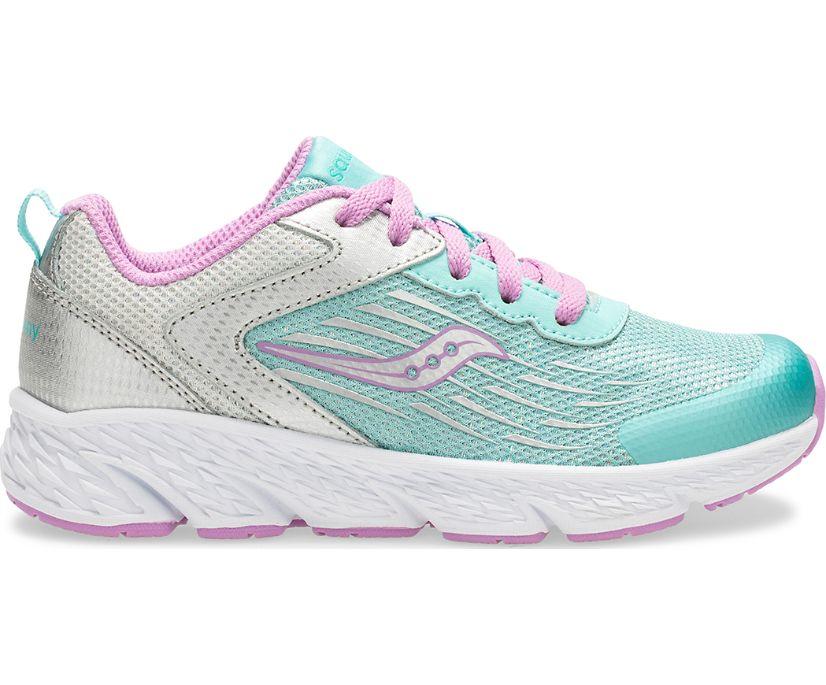Wind Lace Sneaker, Turq/Silver, dynamic