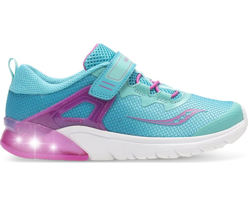 Flash Glow A/C Sneaker, Turq | Pink, dynamic