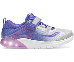 Flash Glow A/C Sneaker, Purple | Silver, dynamic