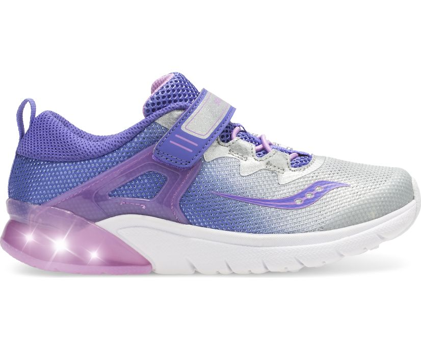 Flash Glow A/C Sneaker, Purple | Silver, dynamic