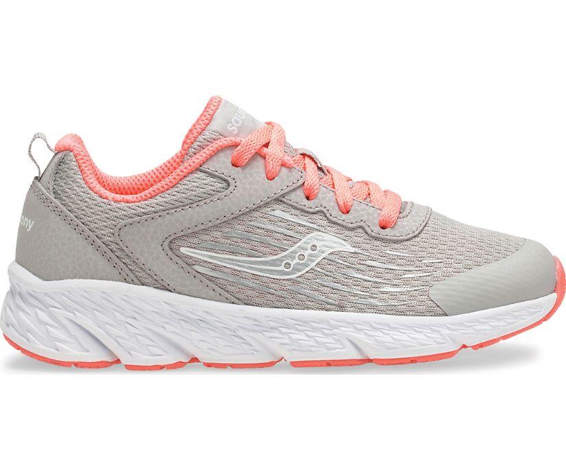 Wind Lace Sneaker, Grey | Coral, dynamic