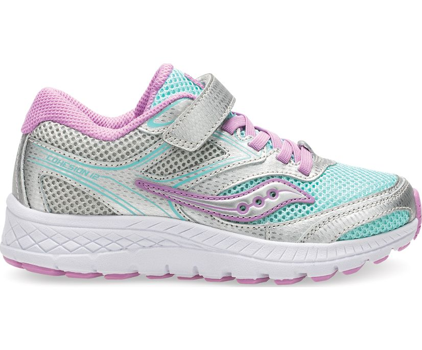 Cohesion 12 A/C Sneaker, Turq/Silver, dynamic