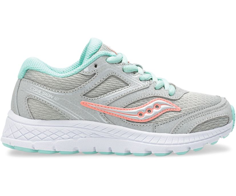 Cohesion 12 Lace Sneaker, Grey | Turq, dynamic