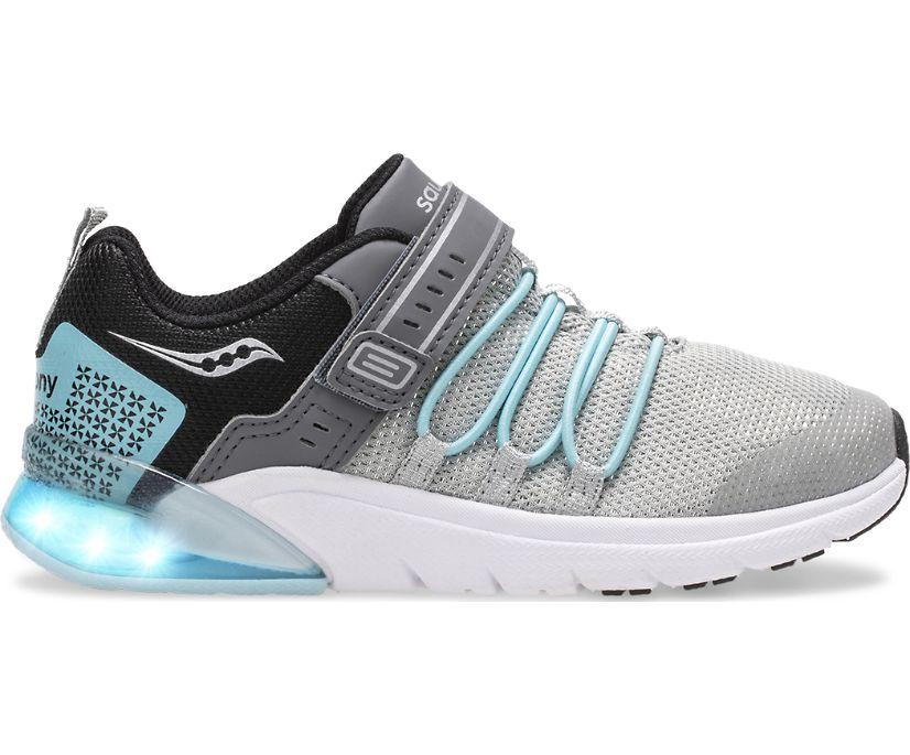 Flash Glow 2.0 Sneaker, Silver | Ice Blue, dynamic