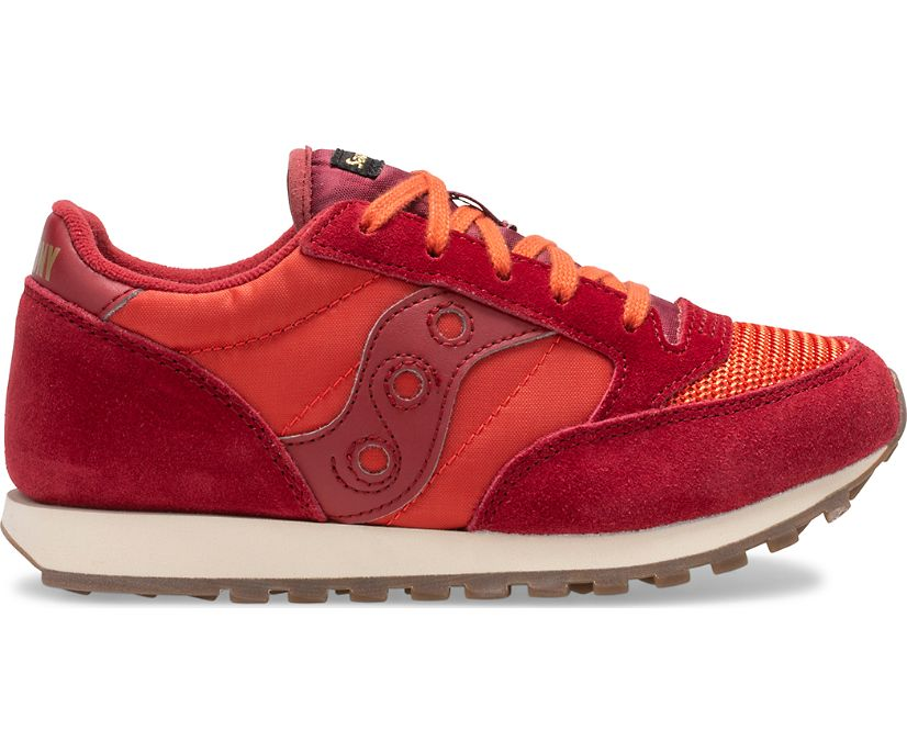 Jazz Original Vintage Sneaker, Red Dahlia | Summer Fig, dynamic