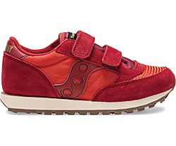 Jazz Original Vintage Hook & Loop Sneaker, Red Dahlia | Summer Fig, dynamic