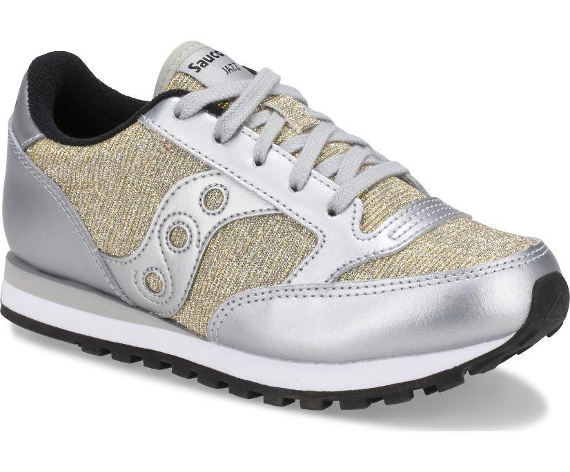 Jazz Original Sneaker, Silver Sparkle, dynamic