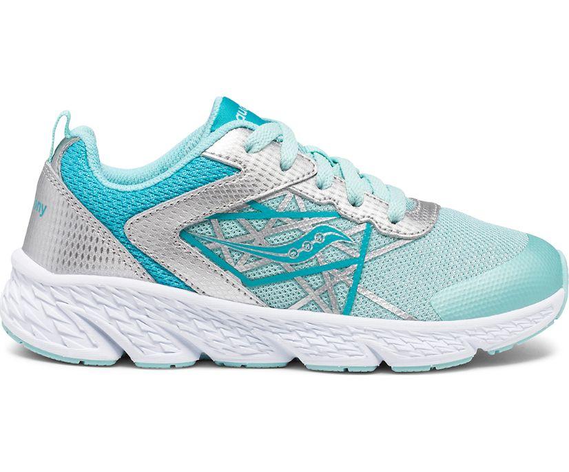 Wind Lace Sneaker, Turq | Silver, dynamic