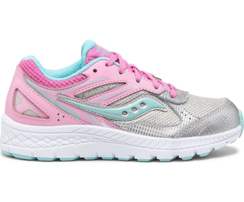 Cohesion 14 Lace Sneaker, Pink | Silver, dynamic