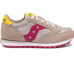 Jazz Original Sneaker, Taupe | Burgundy, dynamic