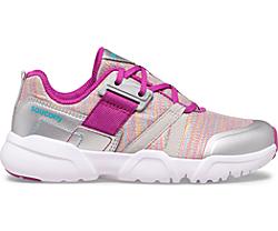 Vertex Lace Sneaker, Silver | Purple, dynamic