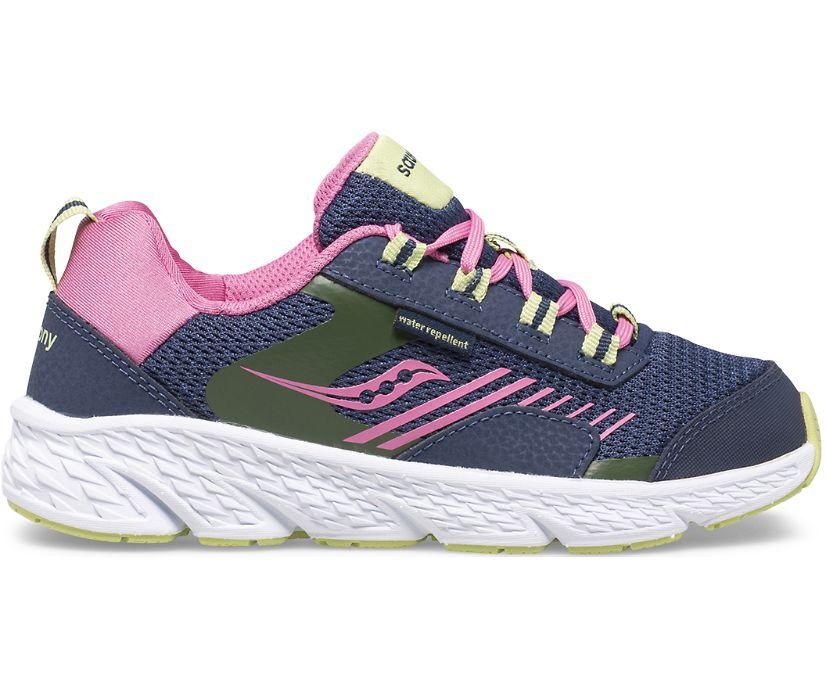 Wind Shield Sneaker, Navy | Green | Pink, dynamic