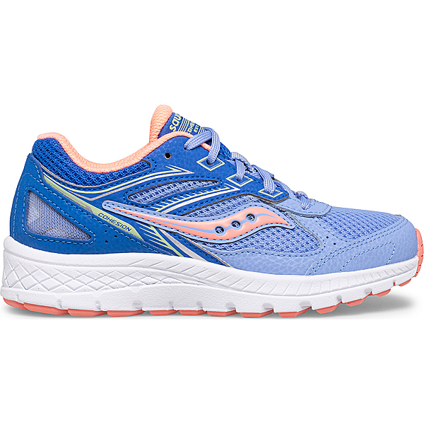 Cohesion 14 Lace Sneaker, Blue   Coral, dynamic