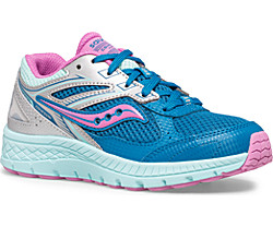 Cohesion 14 Lace Sneaker, Turq | Pink, dynamic
