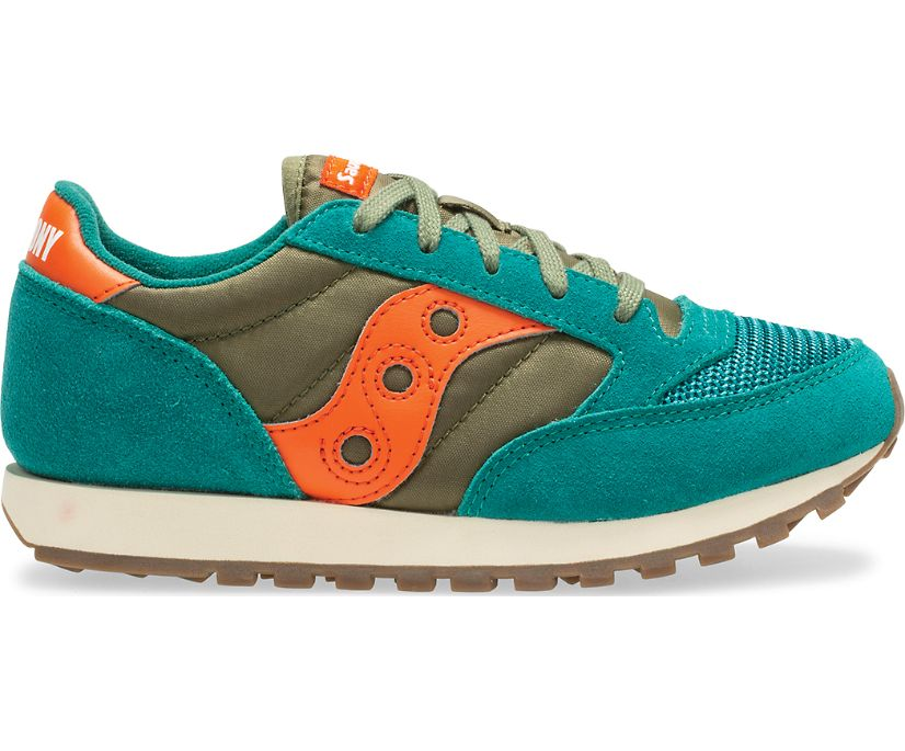 Jazz Original Vintage Sneaker, Green | Orange, dynamic