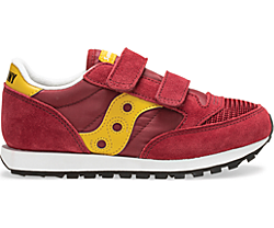 Jazz Original Vintage Hook & Loop Sneaker, Burgundy | Mustard, dynamic