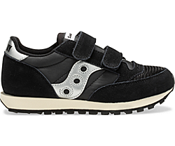 Jazz Original Vintage Hook & Loop Sneaker, Black, dynamic