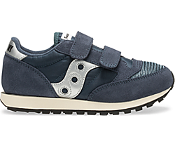 Jazz Original Vintage Hook & Loop Sneaker, Navy, dynamic