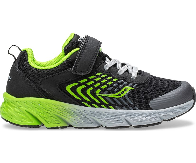 Wind A/C Sneaker, Black | Green, dynamic