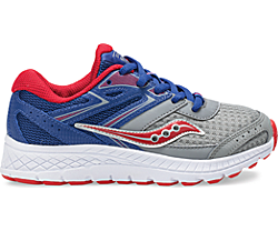 Cohesion 13 Lace Sneaker, Blue | Grey | Red, dynamic