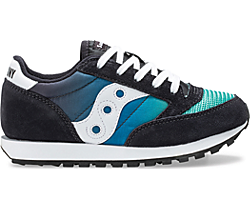 Jazz Original Vintage Sneaker, Black | Blue | Green, dynamic