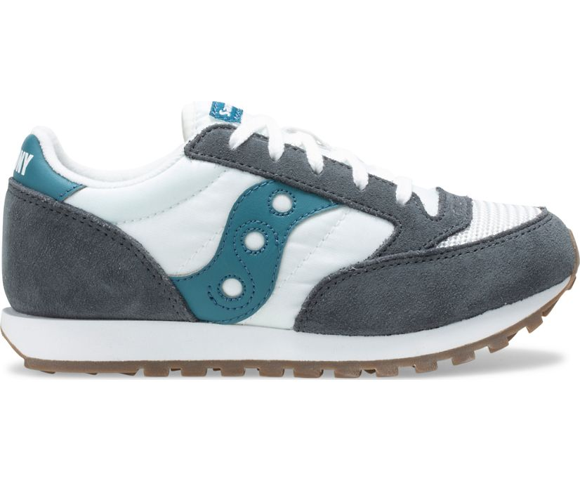 Jazz Original Vintage Sneaker, Grey | White | Teal, dynamic
