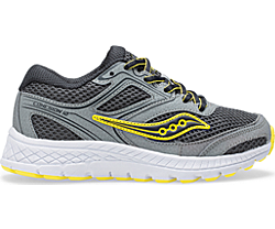 Cohesion 12 Lace Sneaker, Grey | Yellow, dynamic