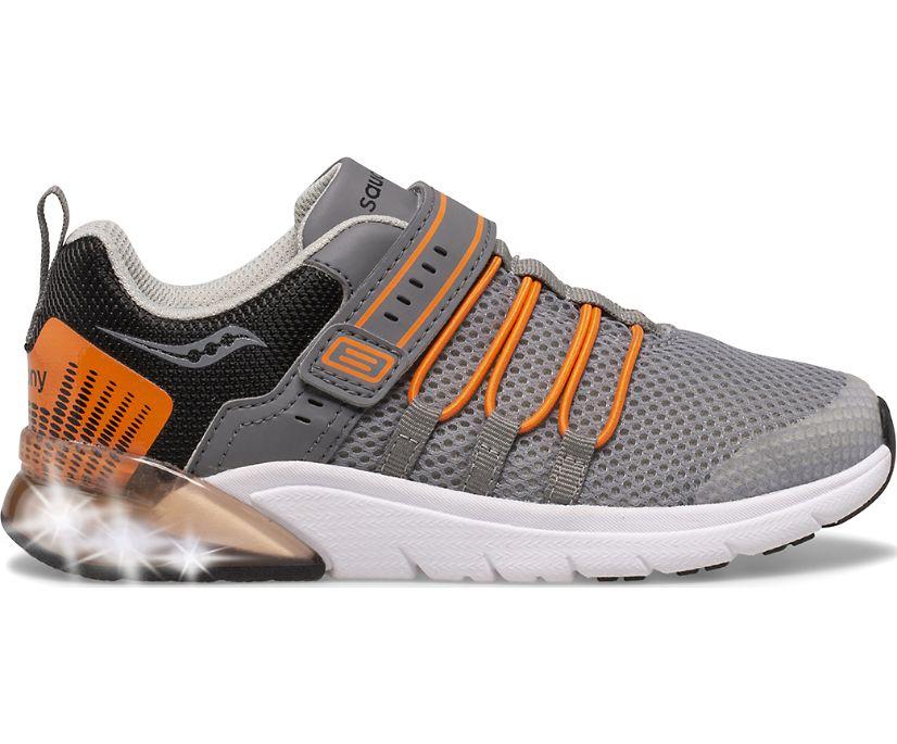 Flash Glow 2.0 Sneaker, Grey | Orange, dynamic