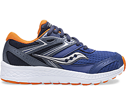 Cohesion 13 Lace Sneaker, Navy | Orange, dynamic