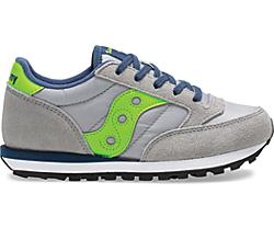 Jazz Original Sneaker, Grey | Green | Blue, dynamic