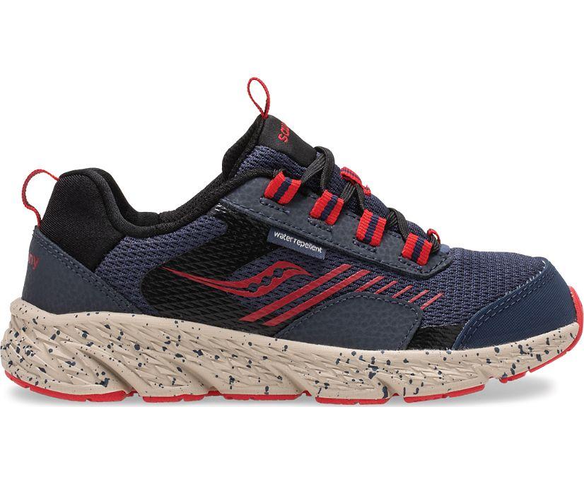 Wind Shield Sneaker, Navy | Red, dynamic