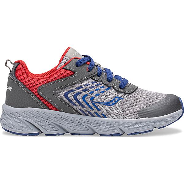 Wind Lace Sneaker, Grey   Blue   Red, dynamic