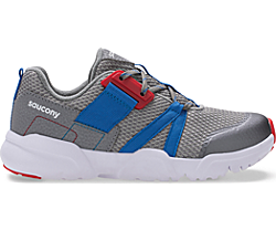 Vertex Lace Sneaker, Grey | Blue | Red, dynamic