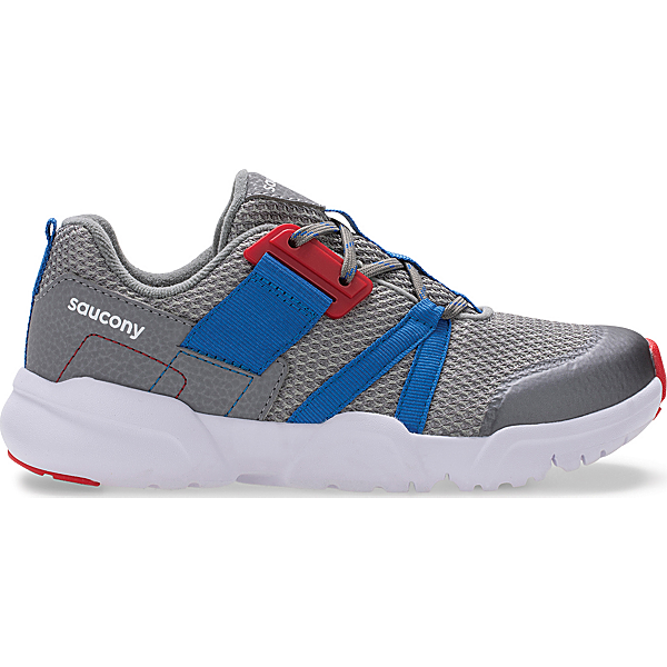 Vertex Lace Sneaker, Grey   Blue   Red, dynamic
