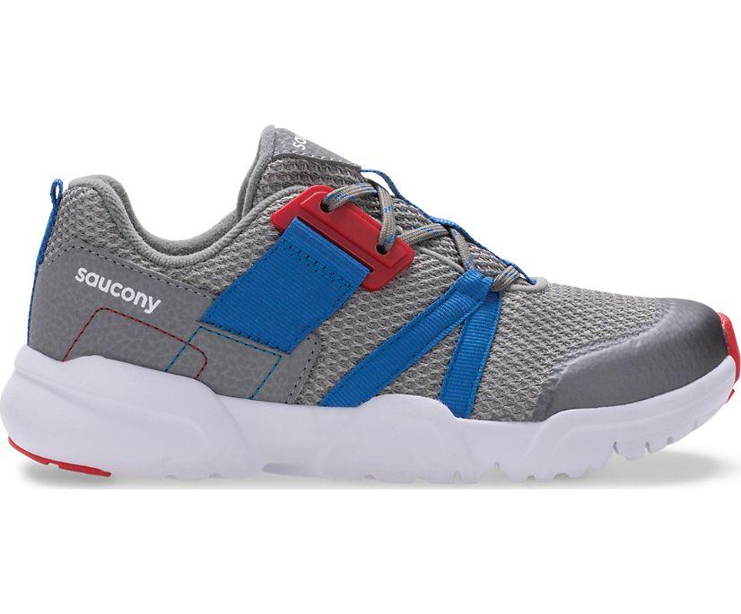 Vertex Lace Sneaker, Grey | Blue | Red, dynamic