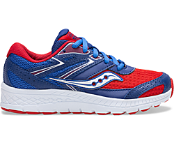 Cohesion 13 Lace Sneaker, Red | Blue | White, dynamic