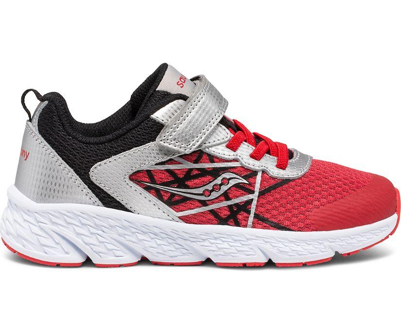 Wind A/C Sneaker, Silver | Red | Black, dynamic