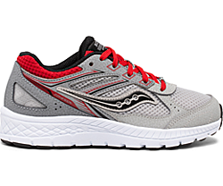 Cohesion 14 Lace Sneaker, Grey | Red, dynamic