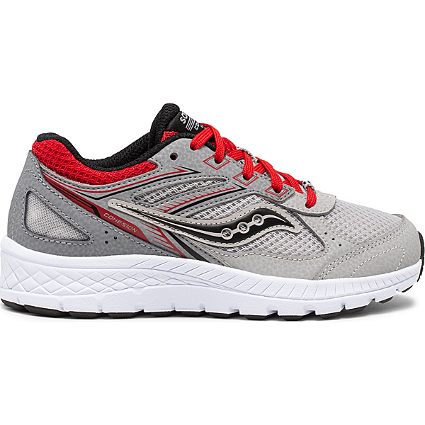 Cohesion 14 Lace Sneaker, Grey   Red, dynamic