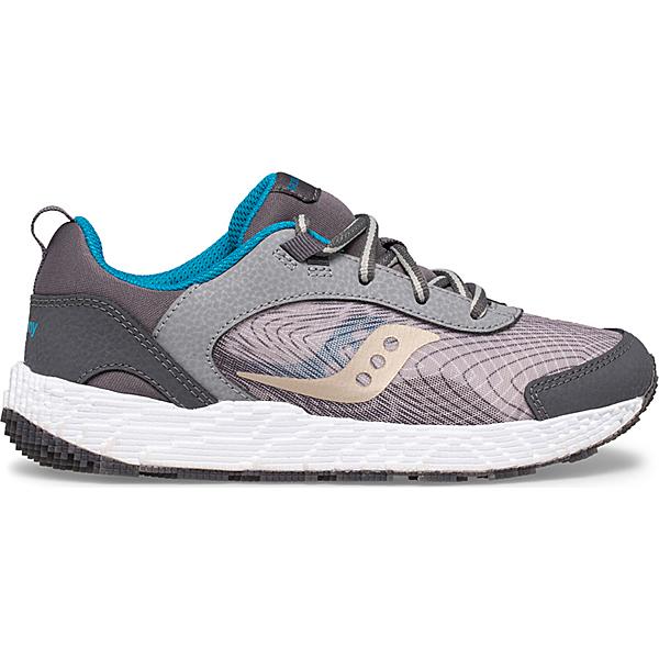 Voxel 6000 Sneaker, Grey | Blue | Gold, dynamic