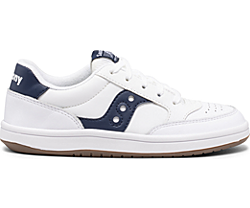 Jazz Court Sneaker, White | Navy, dynamic