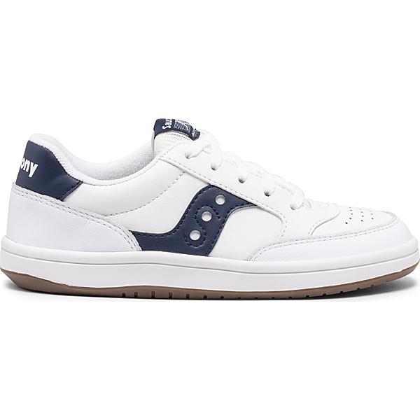 Jazz Court Sneaker, White | Navy, dynamic