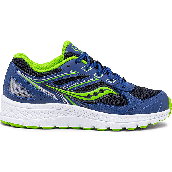 Cohesion 14 Lace Sneaker, Blue   Green, dynamic