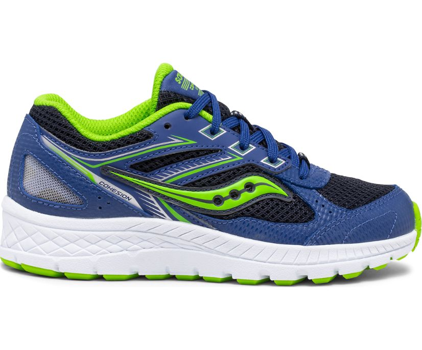 Cohesion 14 Lace Sneaker, Blue | Green, dynamic