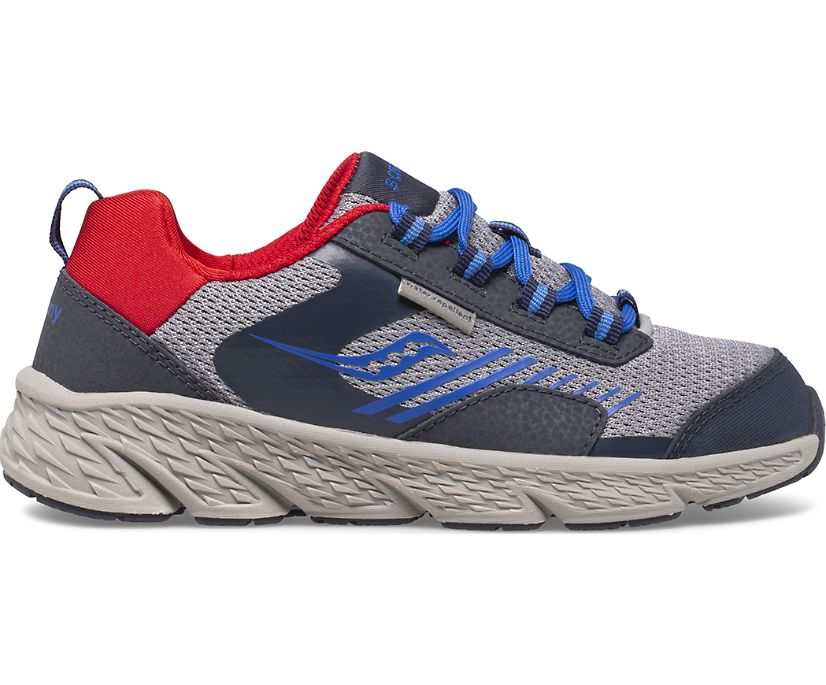 Wind Shield Sneaker, Navy   Grey   Red, dynamic