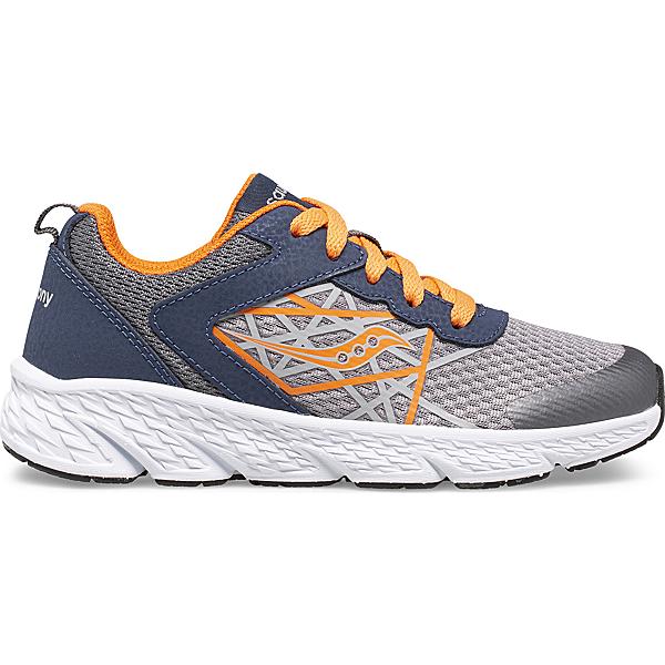Wind Lace Sneaker, Grey   Orange   Navy, dynamic