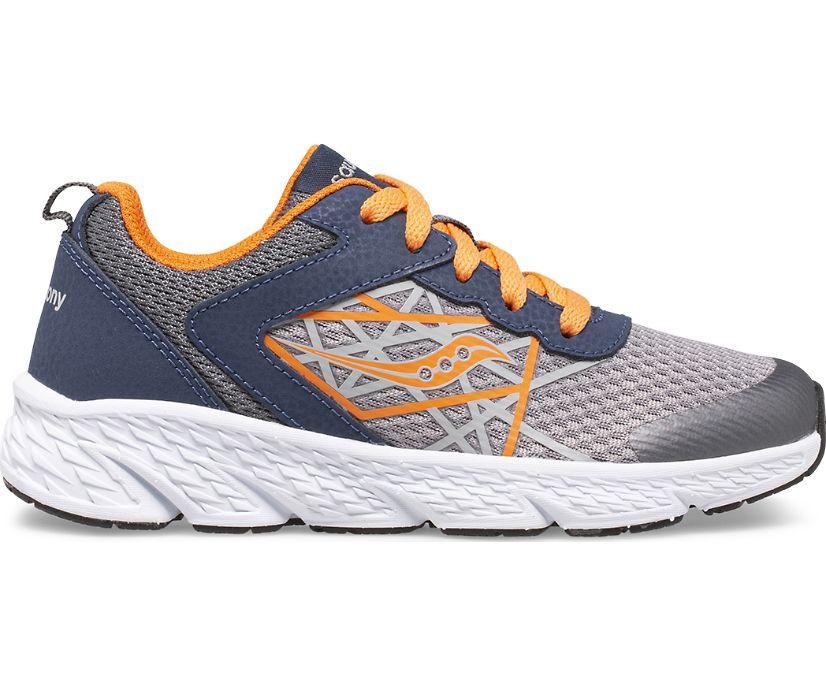 Wind Lace Sneaker, Grey | Orange | Navy, dynamic