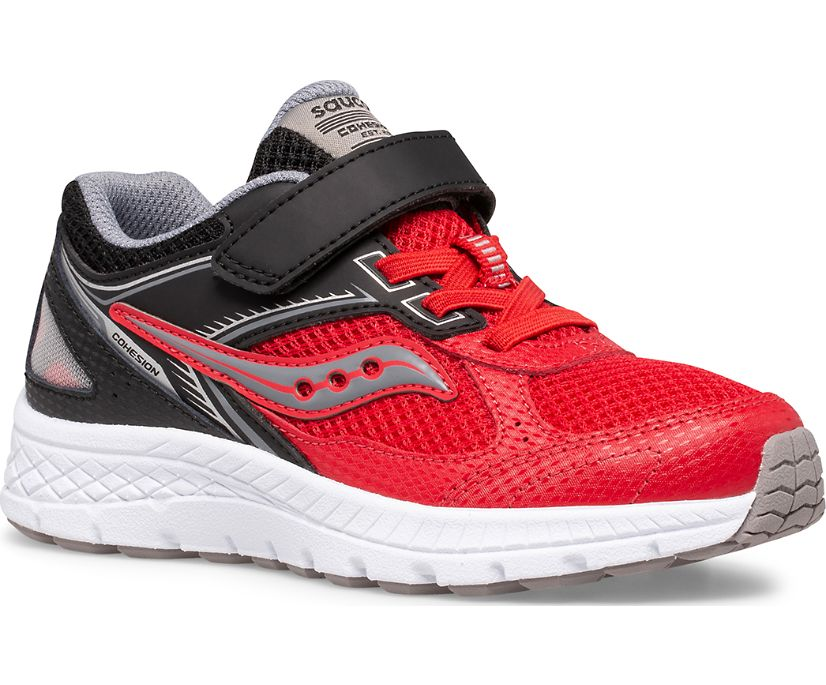Cohesion 14 A/C Sneaker, Red   Black, dynamic
