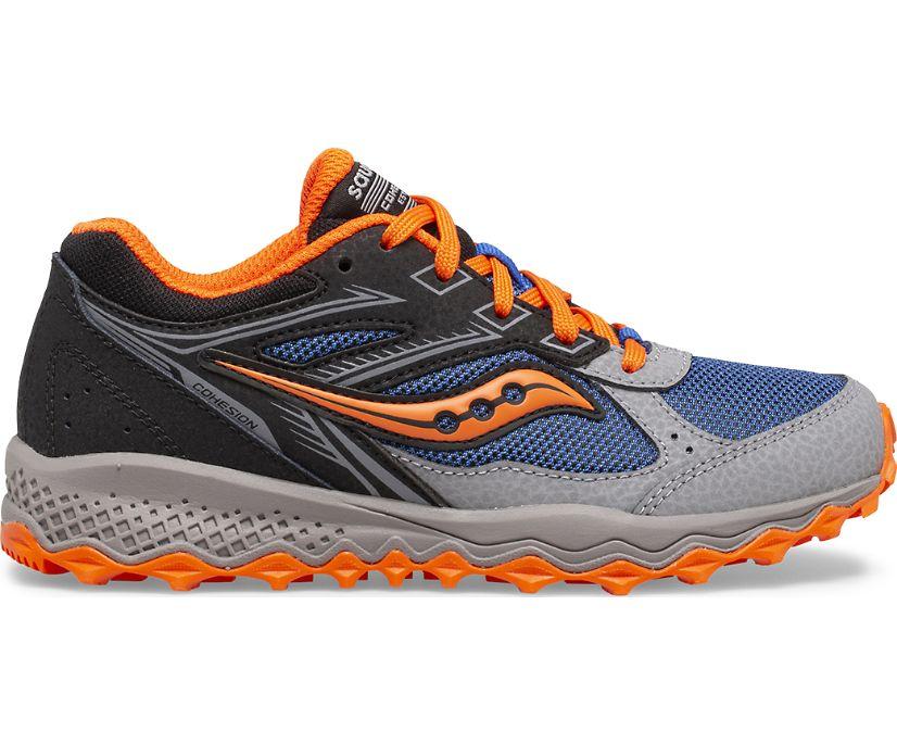 Cohesion TR14 Lace Sneaker, Black | Blue | Orange, dynamic
