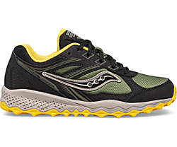 Cohesion TR14 Lace Sneaker, Black | Olive | Yellow, dynamic